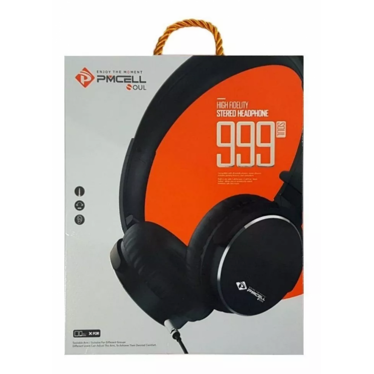 Headphone Stereo Grafite Pmcell Soul 999 Hp-41
