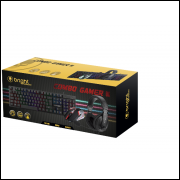 Teclado, Mouse E Headset (combo Gamer III)também Para Jogar