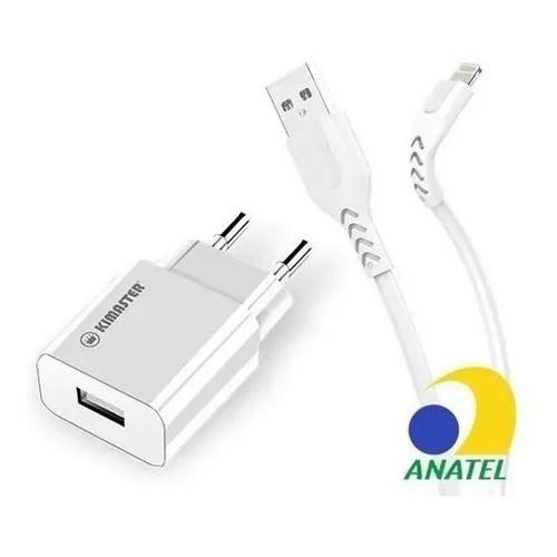 Carregador EXCELENTE Usb 3.1 A Para iPhone Lightning Kimaster KT602X Branco