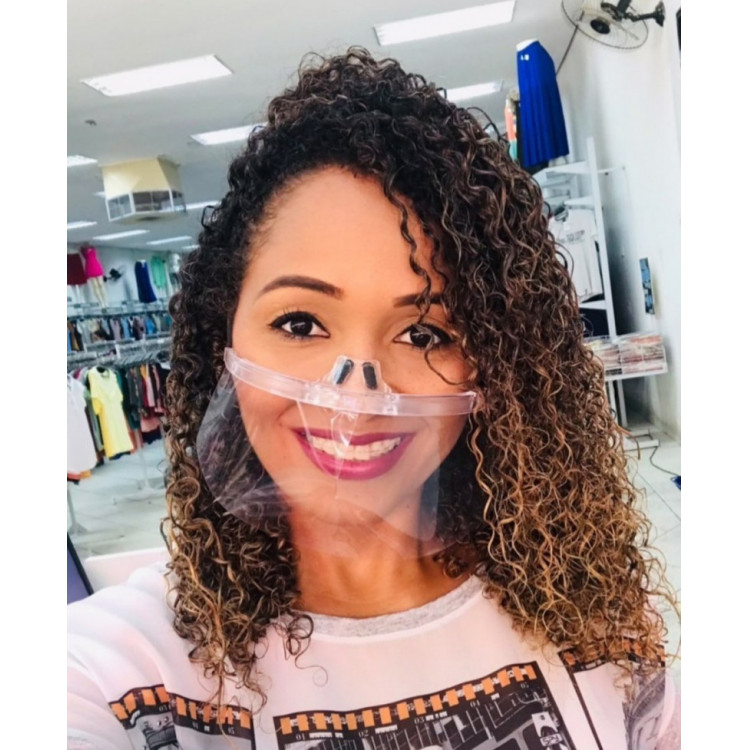 Máscara Vinil Cristal Tamanho Único e Ajuste – Elástico Transparente