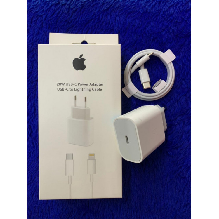 Carregador iPhone Turbo completo 20w USB-C Power Adapter to lightining Cable 6 7 8 X 11 12 Pro Max