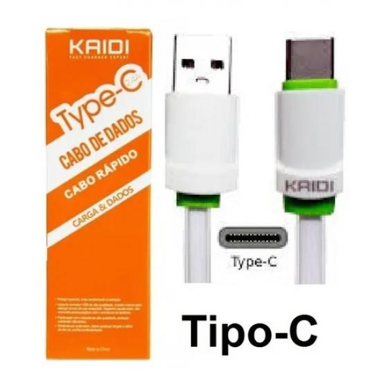 [Kit c/ 10Un]Cabos Carregador Tipo C Kaidi Kd-TC30 Turbo Reforçado