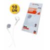 [Kit c/ 10Un} EXCELENTES Fones De Ouvido PMCELL Extra Bass Slim Stereo EARPHONE F0-14