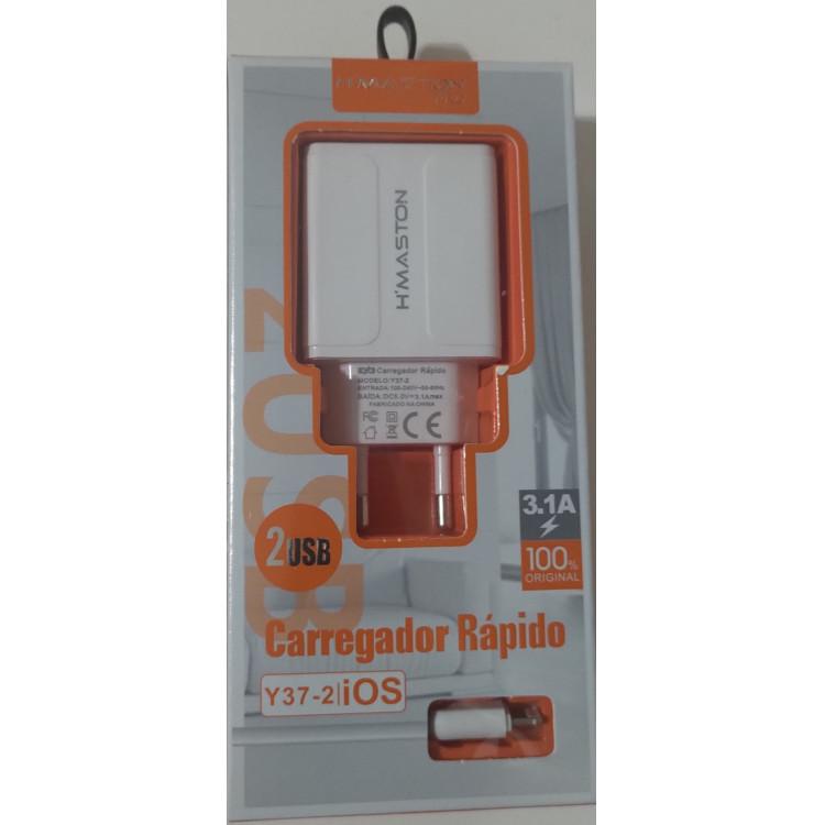 [Kit c/ 10 Un] EXCELENTES CARREGADORES TURBO H-MASTON PARA IPHONE 3.1A Y37-2