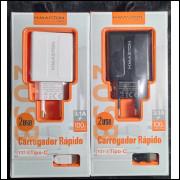 [Kit c/ 10Un]Excelentes Top Carregadores H-Maston Rápido Y37-3 c/ 2 USB 3.1A