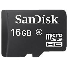 CARTÃO DE MEMÓRIA MICRO SD 16GB SANDISK.