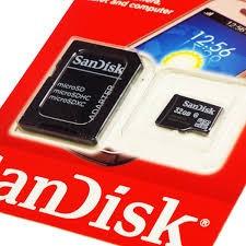 CARTÃO DE MEMÓRIA MICRO SD 32GB SANDISK.